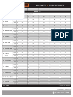P90X3 Worksheets | Recreation | Management Of Obesity