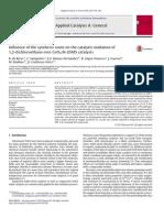 DeRivas 2013 Applied Catalysis a General