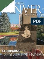 University of Denver Magazine Winter 2014