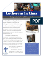 Lutherans in Lima Dec 2013