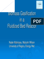 Biomass Gasification in a Fluidized Bed Reactor. ASPEN Sim