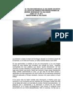 Informe Salida Volcan Conchagua El Salvador