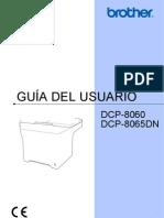 Manual de Usuario Brother DCP - 8060,8065 DN