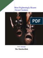 Frighteningly Bizarre Ocean Creatures