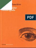 RANCIERE Jacques El Espectador Emancipado Libro Completo PDF
