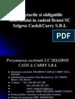 Drepturile Si Obligatiile Angajatilor in Cadrul Firmei SC Selgros Cash Carry SRL