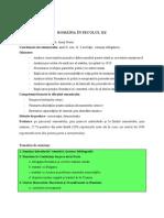 Tematica Romania in Sec XX