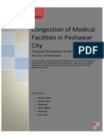 Distribution of Medical Facility in Peshawar