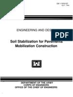 EM 1110-3-137 - Soil Stabilization for Pavements - Mobilization Construction