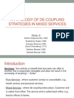 A Typology of De-Coupling Strategies in Mixed Services