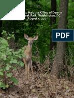 Petition to Halt Rock Creek Park Deer Killing