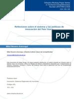 Reflexiones politicas de innovación Pais Vasco