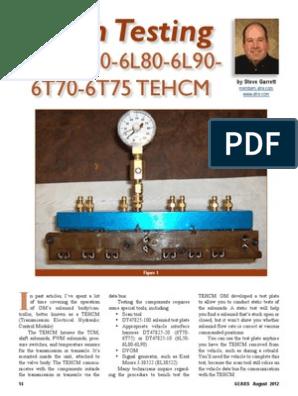 6l80 | Transmission (Mechanics) | Electrical Resistance And