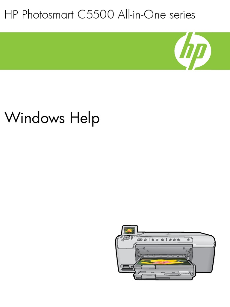 HP Photosmart C5500 All In One Series Windows Help
