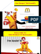 mcdonalds 4 ps of marketing analysis Alternative '4 cs' of marketing was proposed correlating almost directly with the original 4ps,  a brief summary of marketing and how it work.