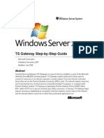 Windows Server 2008 TS Gateway Server Step-By-Step Setup Guide v1.0
