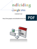 verplaatst!!! Uitgebreide handleiding aan de slag met Google Sites