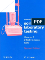 Manual of Soil Laboratory Testing by Head VOL 3 EFFECTIVE STRESS TESTS