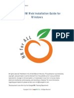 Orange Hr m Web Installation Guide for Windows