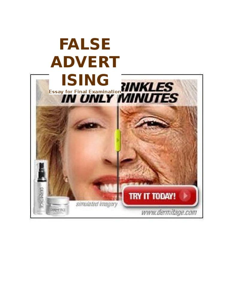 False Advertising Essay - Words | Bartleby