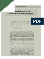 MARTIN HEIDEGGER - National-Socialisme Et Philosophie