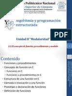 2.2 El concepto de funci-¦ón, procedimiento y modulo
