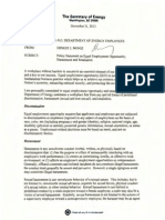 US Dept. of Energy EEO Policy Memorandum