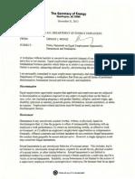 US Dept. of Energy EEO Policy Memorandum