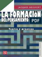 Jacques Bosviert, La formación del pensamiento crítico