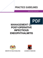 CPG Management of Post-Operative Infectious Endophthalmitis