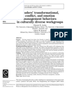 Leaders Transformational Conflict and Emotion Management Behaviors in Culturally Diverse Workgroups