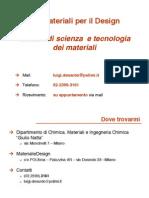 Materiali per il design-politecnico di Milano