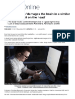 A Lack of Sleep 'Damages the Brain in a Similar Way to Being Hit on the Head' _ Mail Online