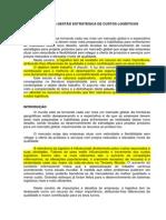 GESTÃO ESTRATÉGICA DE CUSTOS LOGÍSTICOS