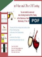 Wine and Olive Oil Tasting Invite