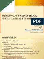 Menggunakan Facebook Sebagai Metode Login HotsPot Mikrotik