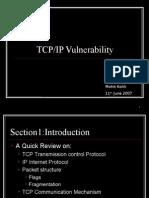 Presentation on TCP-IP Vulnerabilities