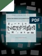 """Informe del rediseño de la portada de largometraje (""""INCEPTION"""")"""