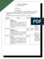 Programación Bimestral de tutoria