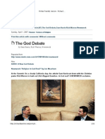 The God Debate by Sam Harris, Rick Warren, And Newsweek