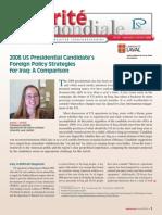 securitemondiale34 en anglais sur le débat présidentiel de 2008