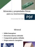 Minerales y propiedades físicas para su reconocimiento