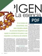 Epigenetica. La Esencia Del Cambio