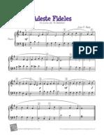 Adeste Fideles Piano Score