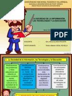 PPT UNO DRA ALIAGA La sociedad de la información, las tecnologías y la EDUCACION