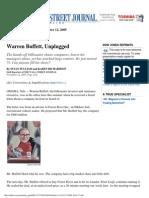 Warren Buffett, Unplugged