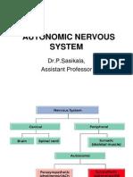 Function autonomic nervous system