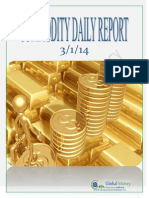 Daily Commodity Report by Gmm 3-1-2014