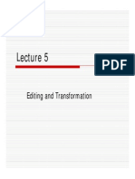 Lec5 Editing and Transformation