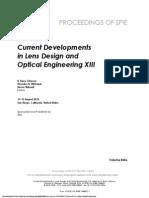 Current Developments in Lens Design
